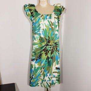 Rabbit Rabbit Rabbit dress ruffled sleeves size 10